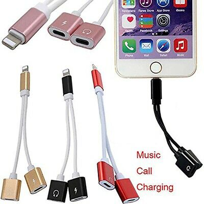 £2.99 • Buy Audio Charging Splitter Cable Adapter Headphone Jack For IPhone 7 8 X 11 12