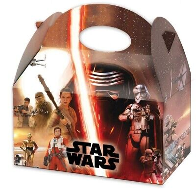£3.99 • Buy 6 Star Wars Party Boxes - Toy Loot/Party Bag Fillers Wedding/Kids Food Meal
