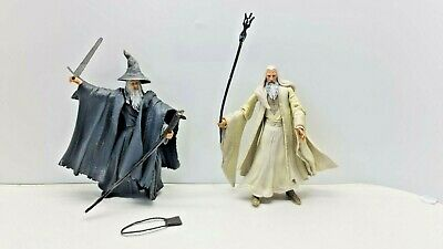 £17 • Buy Lord Of The Rings Gandalf The Grey And Saruman Lot Action Figures,toybiz