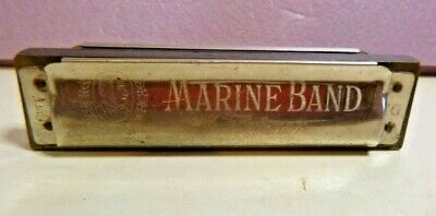 $14.99 • Buy M. Hohner 1896 Marine Band Harmonica KEY G- A440 Vintage Made In Germany