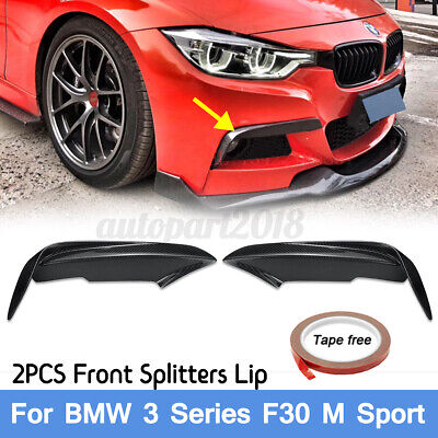 AU174.65 • Buy Carbon Fiber Front Fog Light Splitter Bumper Lip For Bmw 3 Series F30 M Sport
