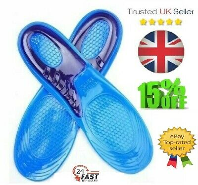 £3.39 • Buy 🔥High Arch Gel Insoles Inserts Heel Support Massaging Feet Pads Grips For Shoes