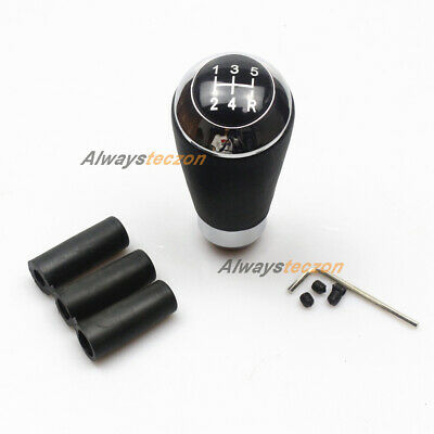 AU29.99 • Buy Universal Gear Shift Knob 5 Speed Manual Leather Shifter Accessories Black