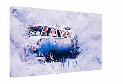£16.99 • Buy Grunge Camper Van 30  X 20  A1 Canvas Print Wall Art Framed Clearance Stock