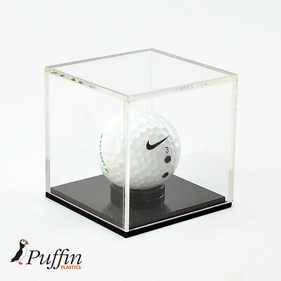 £15.99 • Buy Perspex Golf Ball Display Case With Black Base