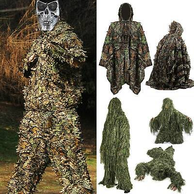 AU83.69 • Buy Army Camouflage Ghillie Suit Outdoors Tactical Hunt Paintball Airsoft Outfit