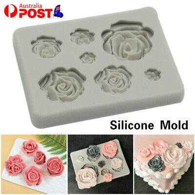 AU6.99 • Buy 3D Rose Flower Silicone Clay Soap Mold Mould Fondant Sugarcraft Cake Decorating