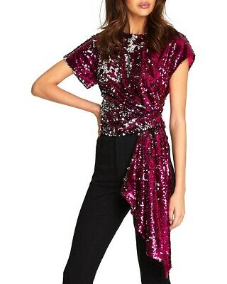 AU90 • Buy Alice McCall Electric Orchid Pink Sequin Top Size 6