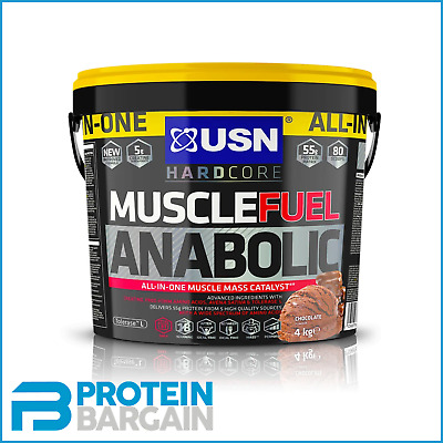 £49.99 • Buy USN Muscle Fuel Anabolic All In One 4kg - 26 Serve - Chocolate Flavour