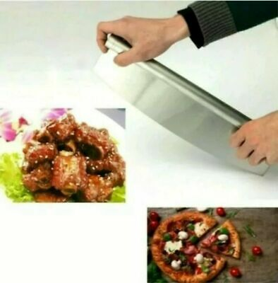 £4.99 • Buy Professional 18/10 Stainless Steel Pizza Cutter Rocker Slicer Kitchen New