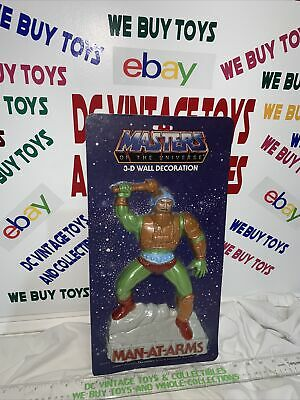 $139.99 • Buy Brand New Sealed Masters Of The Universe 3-d Wall Decoration Man At Arms 1984