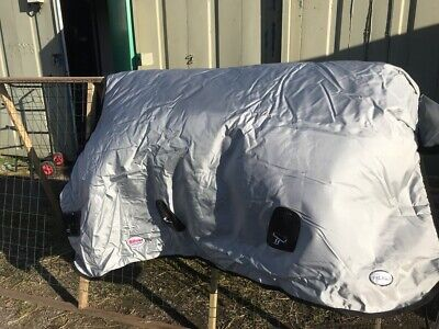 """Fal Pro Viking 6'9"""" 400g Ex Display Heavy Weight Silver Interactive  Turnout Rug • 145£"""