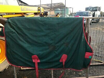 """Fal Pro Viking 6'6"""" 400g USed  Heavy Weight Green Turnout Rug   • 85£"""