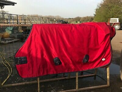 """Fal Pro Viking 6'9"""" 400g USed  Heavy Weight  Red Turnout Rug   • 95£"""