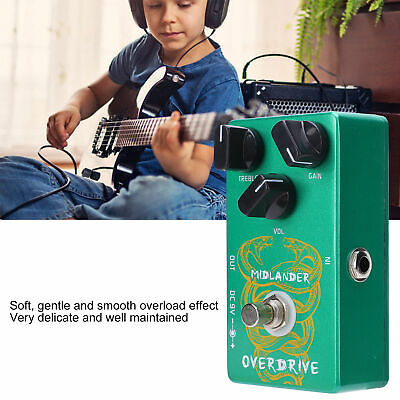 $ CDN50.32 • Buy Electric Guitar Overdrive Pedal Kit True Bypass Effect With Cable Portable Gift