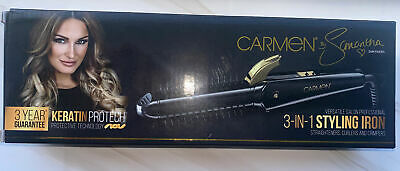 £30 • Buy Carmen 3-in-1 Hair Styling Iron Straighteners Curlers Crimpers TOWIE Sam