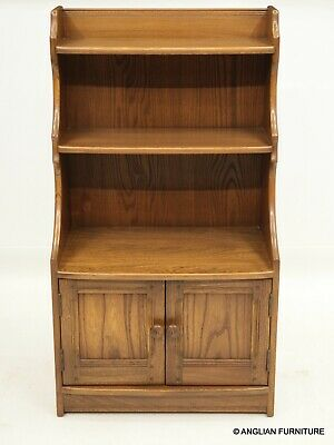£287 • Buy Ercol Waterfall Bookcase With Lower Cupboard Golden Dawn VGC FREE UK Delivery*