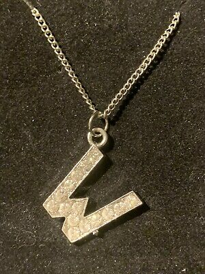 £4 • Buy BNWT Miss Selfridge Letter W Initial Crystal Pendant Necklace