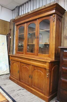 AU845.75 • Buy A Large Victorian Style Glazed Timber Bookcase - Display Cabinet