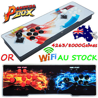 AU228.99 • Buy Pandora Box 4263/8000 Games In 1 Arcade Console 2D & 3D 2 Players Video Game HD