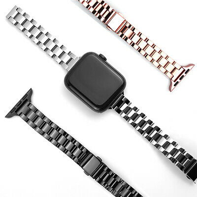 AU18.99 • Buy For Apple Watch Band Series SE 6 5 4 3 2 1 Thin Bracelet  Stainless Steel Strap