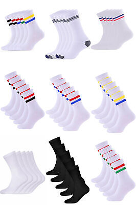 Men's Terry Cushioned Sports Trainer Socks Breathable Cotton 5 Packs Aurellie • 6.99£