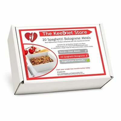 £25.99 • Buy KeeDiet Meal Replacement VLCD 20 Spaghetti Bol Weight Loss Diet Meal *New Recipe
