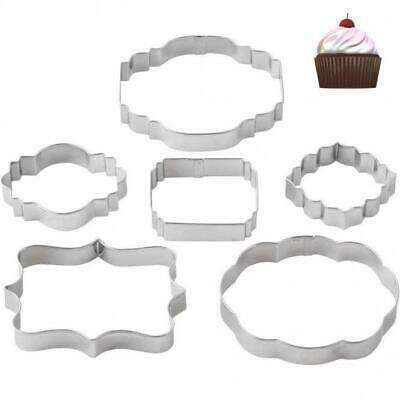 PME Cookie & Cake Plaque Set Of 2 Cutters - Styles 1 - 6 Cake Decorating • 3.98£