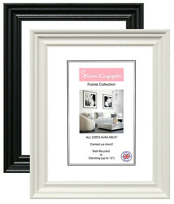£4.50 • Buy BLACK Photo Frames Shabby Chic WHITE Poster Picture Frame A1 A2 A3 A4 A5 A6