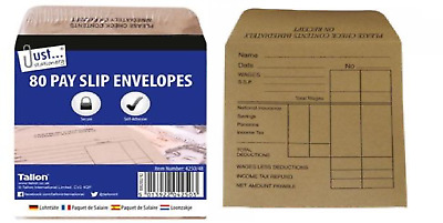£3.49 • Buy 50 Gummed Wage Packets Pay Envelopes Staff Salary Slip Business Shop Office NEW