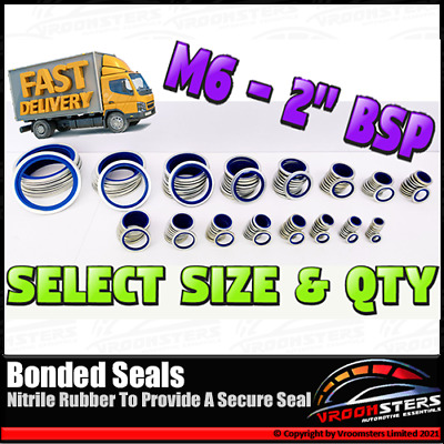 £19.89 • Buy Bonded Seal Washers Dowty Sealing Washer Oil Fuel Metric / Imperial M6 - 2  BSP
