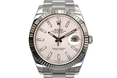 $ CDN14106.42 • Buy Rolex Datejust 41 Stainless Steel Silver Baton 126334
