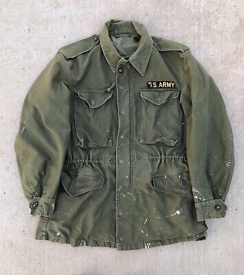 $95 • Buy Vintage Distressed M51 Field Jacket US Army Patch Military OG 107