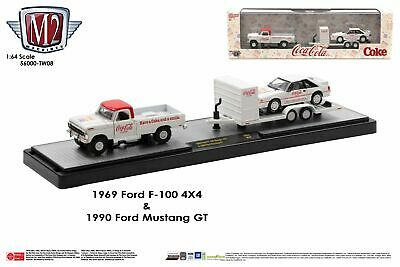 $29.99 • Buy M2 Machines Auto Hauler TW08 1969 Ford F-100 Ranger 4X4 And 1990 Ford Mustang GT