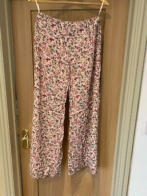 River Island Wide Leg Palazzo Pants Floral Print Size 8 - Fab For Summer! • 9.10£