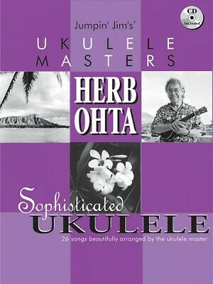AU24.44 • Buy Jumpin Jim's Ukulele Masters: Herb Ohta Sheet Music Book And CD 000695678