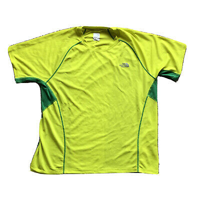 £21.47 • Buy The North Face Flash Dry Base Layer Green Yellow TShirt Mens Size XL