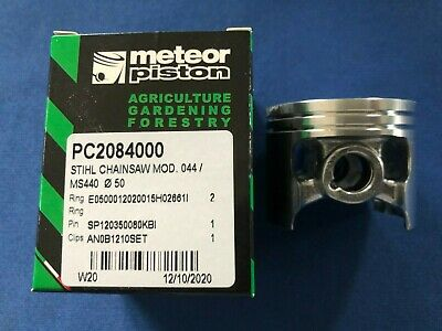 $34.50 • Buy New OEM Meteor Chainsaw Piston Kit Stihl 044 MS440 50mm PC2084000 12mm Pin Italy
