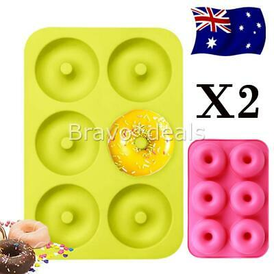 AU9.99 • Buy 2Pcs Silicone Donut Muffin Chocolate Cake Cookie Cupcake Baking Mold Mould Tray