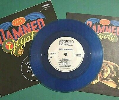 £6 • Buy THE DAMNED - GIGOLO - 7  BLUE VINYL - MCA Label With PICTURE COVER & POSTER
