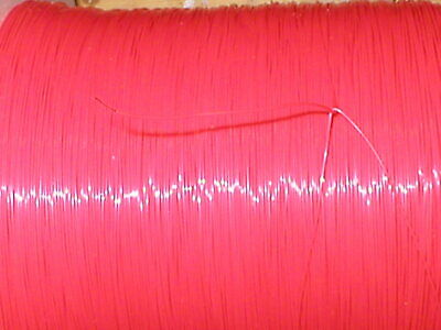 £3.80 • Buy 5metres Red 30AWG 1/0.25 PTFE Wire Solid Core Silver Plated Copper Conductor