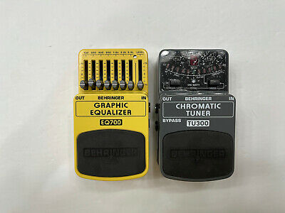 $ CDN124.07 • Buy Behringer TU300 Chromatic Tuner EQ700 Graphic Equalizer Guitar Effect Pedal Lot