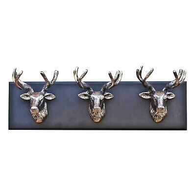 £19.99 • Buy Wall Mounted Silver Metal Stag Head Ornament Deer Animal Sculpture Decoration