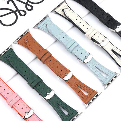 AU17.99 • Buy Genuine Leather Apple Watch Band Strap IWatch Series SE 6 5 4 3 2 38mm 40mm