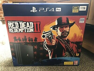 AU441.79 • Buy PS4 Pro 1TB Red Dead Redemption Edition Console Boxed With Accessories And Game