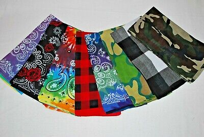 $5.85 • Buy Your Choice Great Patterns All Cotton Bandanas  NEW