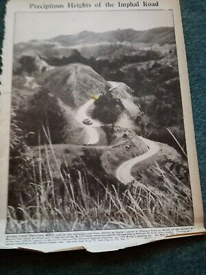 £2 • Buy Zg1 Ephemera Ww2 Picture Heights Of The Imphal Road
