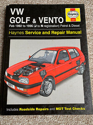 VW Golf & Vento 1992-1996 Haynes Service And Repair Manual Hardback Book • 5.99£