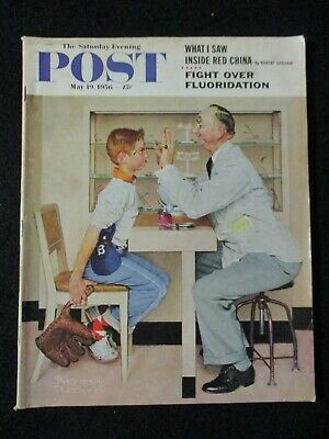 $ CDN24.98 • Buy Vintage Saturday Evening Post  May 19, 1956 Norman Rockwell Cover