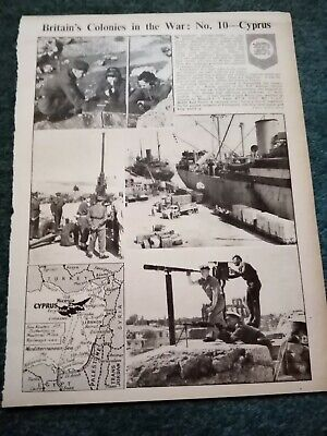 £2 • Buy Zg1 Ephemera Ww2 Picture Page Cyprus In The War
